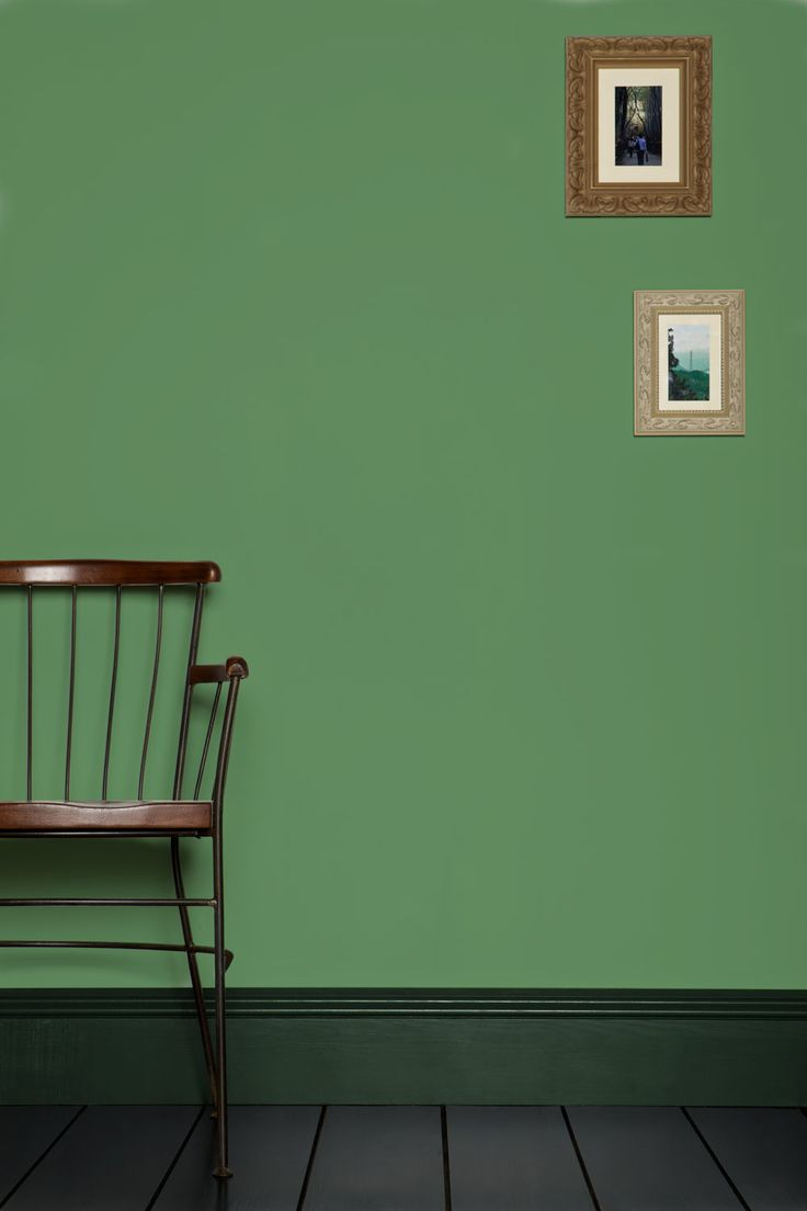 Folly Green by Farrow and Ball. Love this with forest green accents.