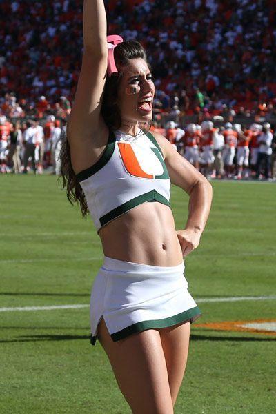 Miami Hurricanes Cheerleader