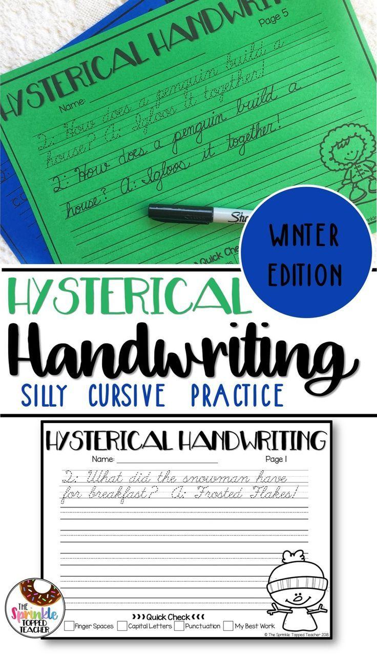Winter Handwriting Worksheets Cursive And Print Cursive