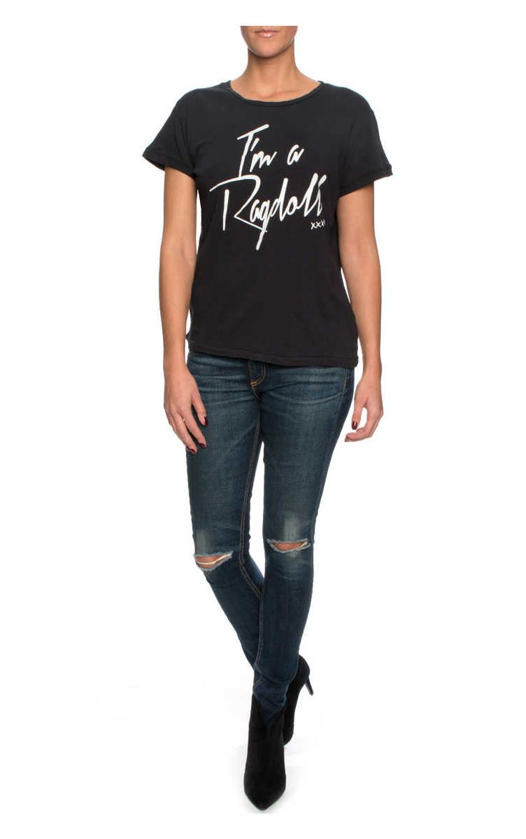Topp I'm A Ragdoll BLACK - Ragdoll LA - Designers - Raglady