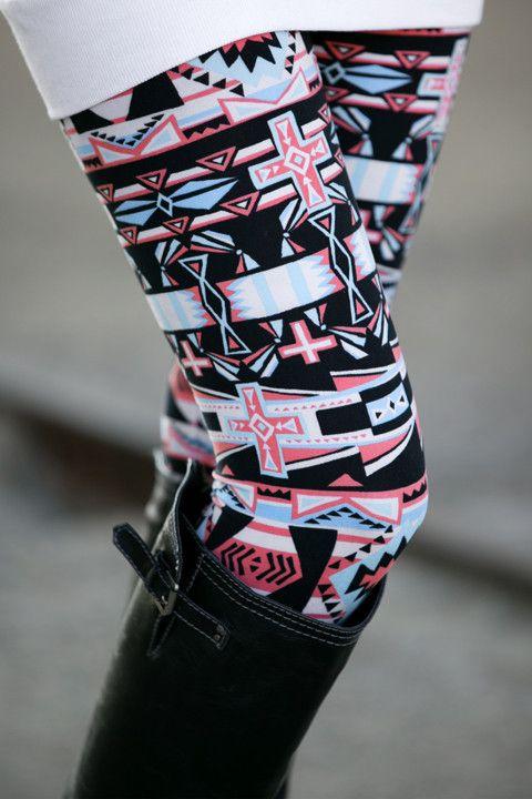 Aztec Cross Leggings
