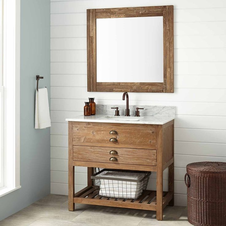 The Awesome Web  Benoist Reclaimed Wood Vanity for Rectangular Undermount Sink Pine
