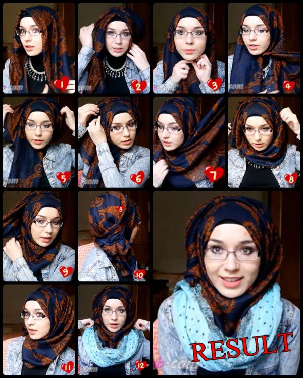 Pin Back Hijab Tutorial  You will have to place your hijab on your head with short and long sides  Pin it under you chin Bring the shorter side over your head for more volume and pin it in the other side. Wrap the longer side around your head. The last step consists on rolling the fabric and pin it in the back