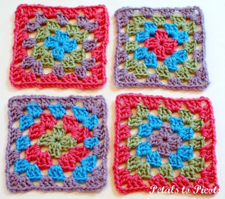 14 mejores imágenes de Granny squares en Pinterest   Motivo de ...