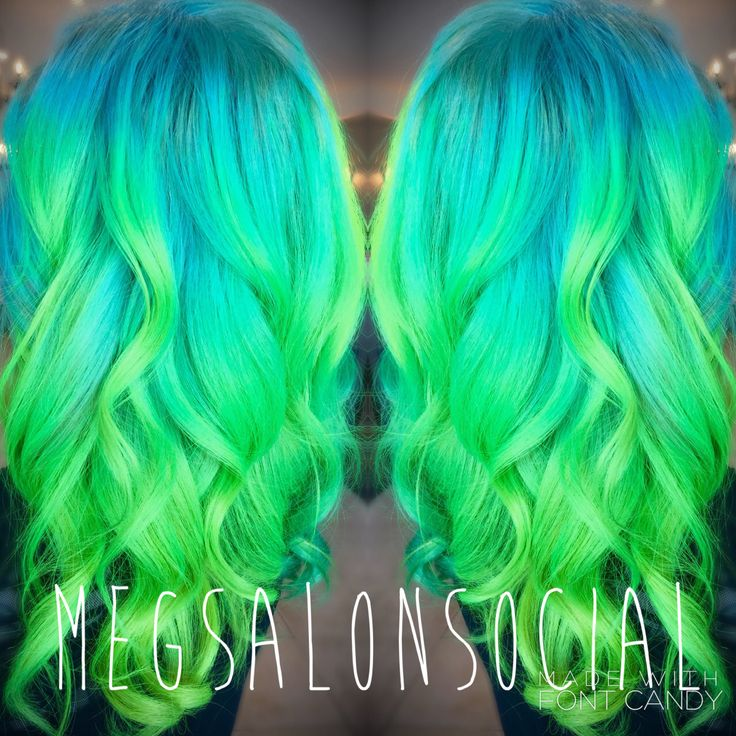 neon green hair ideas