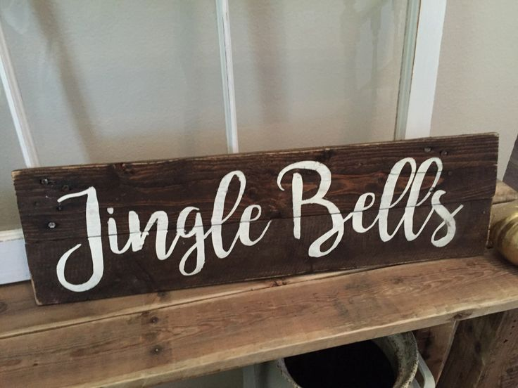 Jingle Bells Sign | Pallet Wood Sign | Christmas Decor | Christmas Pallet Sign | Christmas Sign | Farmhouse Christmas Decor by PickensAndPallets on Etsy https://www.etsy.com/listing/485901129/jingle-bells-sign-pallet-wood-sign