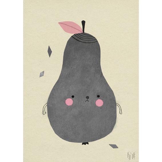 Søt poster fra Fine Little Day.  Designet av Elisabeth Dunker.  Ubleket papir. 170gram.