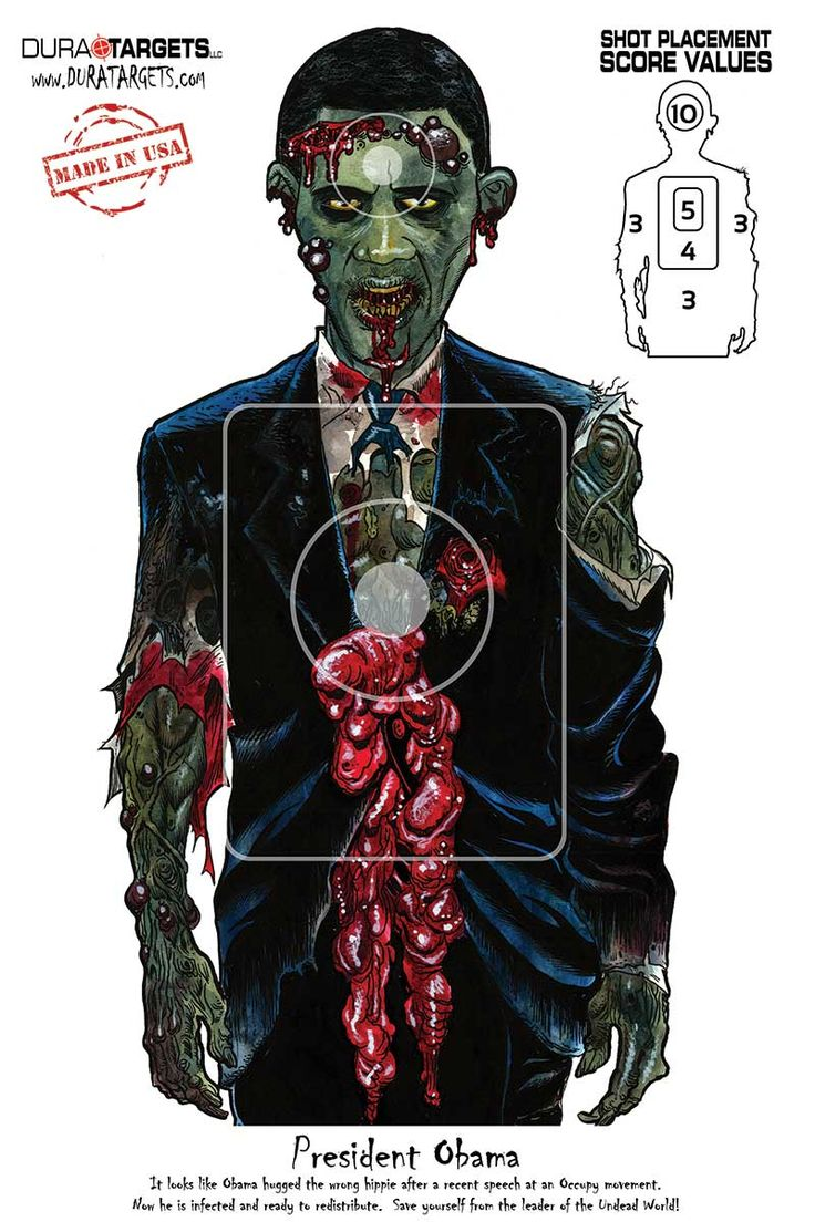 It is a picture of Rare Zombie Target Printable