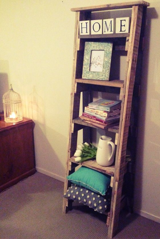 Pallet ladder bookshelf ! My Latest !