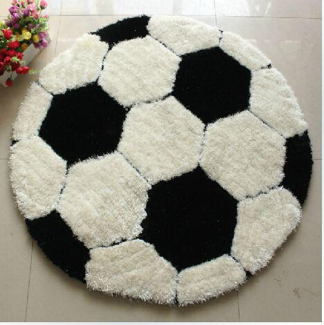 Супер толщиной пряжи с супер композит-нити футбол 1 м * 1 м ковер мальчик детская комната компьютерный стул круглый ковровое покрытие