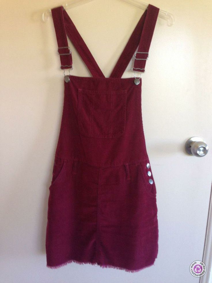 Clotheswap - Glassons Red Dungaree Dress