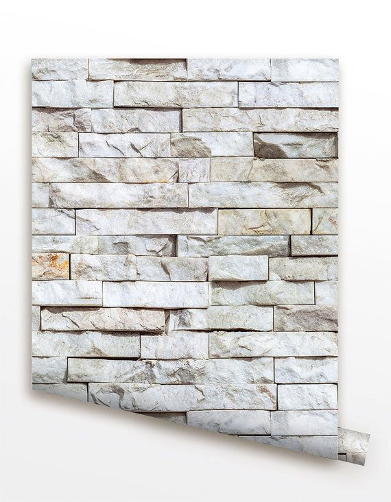 Removable Peel and Stick Fabric Wallpaper - Seamless Brick Wall paper - Modern Wall Murals Stone Bedroom Wall Covering  prt0055