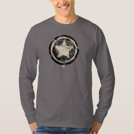Captain America Grunge Shield T-Shirt - tap to personalize and get yours