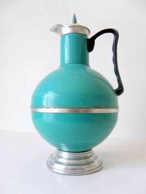 EMERALD - Turquoise Green Very Old and Rare Chinese Thermo. $138.00, via Etsy.