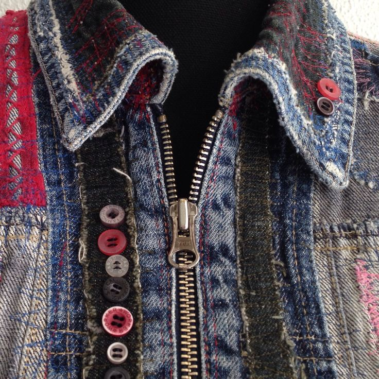 Check out the up-cycled denim jacket in my shop!
