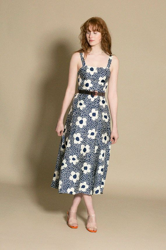 0693a7b1f97 Maryam Nassir Zadeh - Navy Floral La Mola Dress