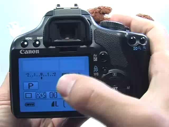 Canon XSi/450D: Set Exposure Compensation Function