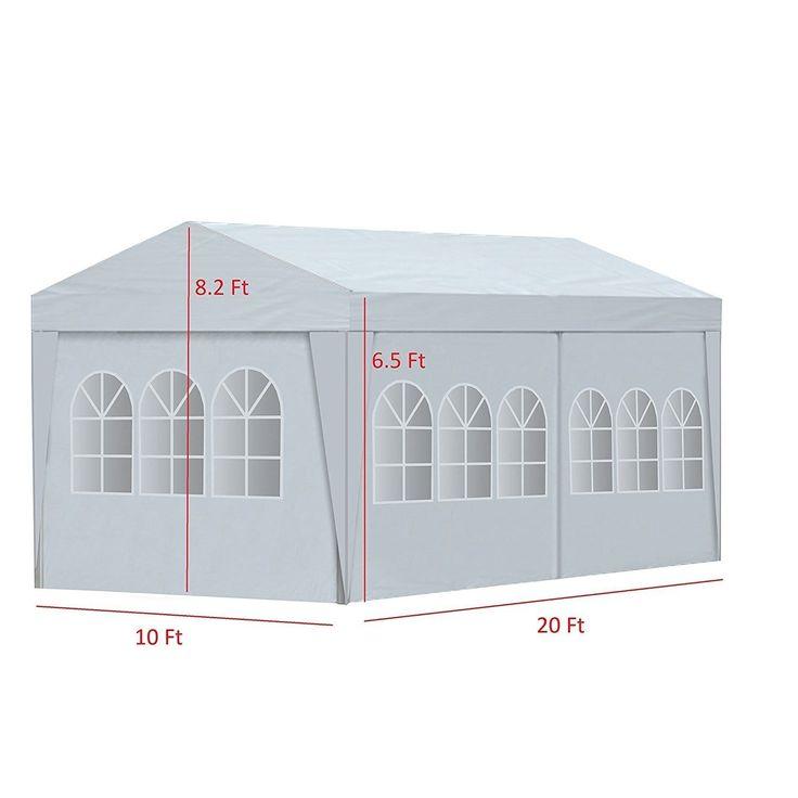 aleko 20 x 10 feet gazebo canopy outdoor picnic party tent white white