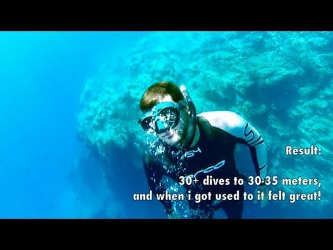 Freediving How to hold your breath longer - Breathe up techniques - YouTube