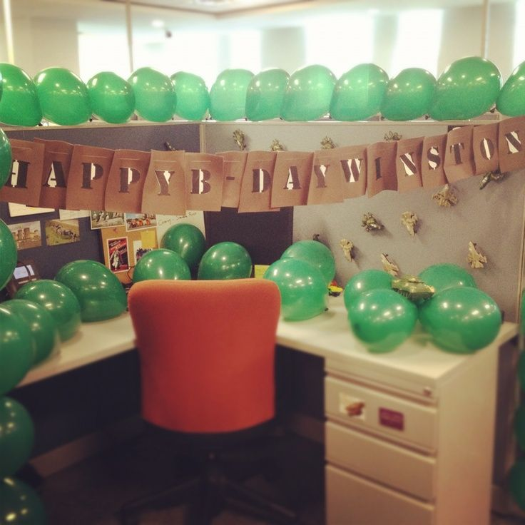 17 best ideas about cubicle birthday decorations on for Cubicle ideas