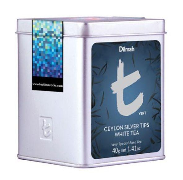 Ceylon White Tea - Ceylon Silver Tips Tin - Silver Tips, Needles, Weißer Tee 40g #Dilmah