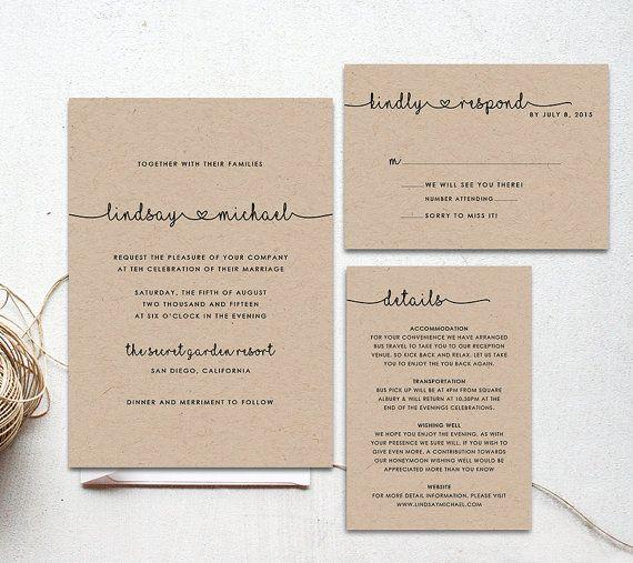 105 best Wedding invitations images on Pinterest Bridal - invitation template online