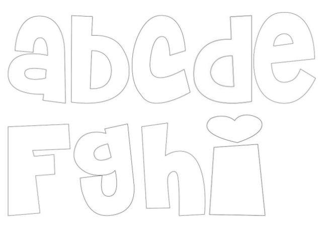 Moldes de letras del abecedario en cursiva - Imagui
