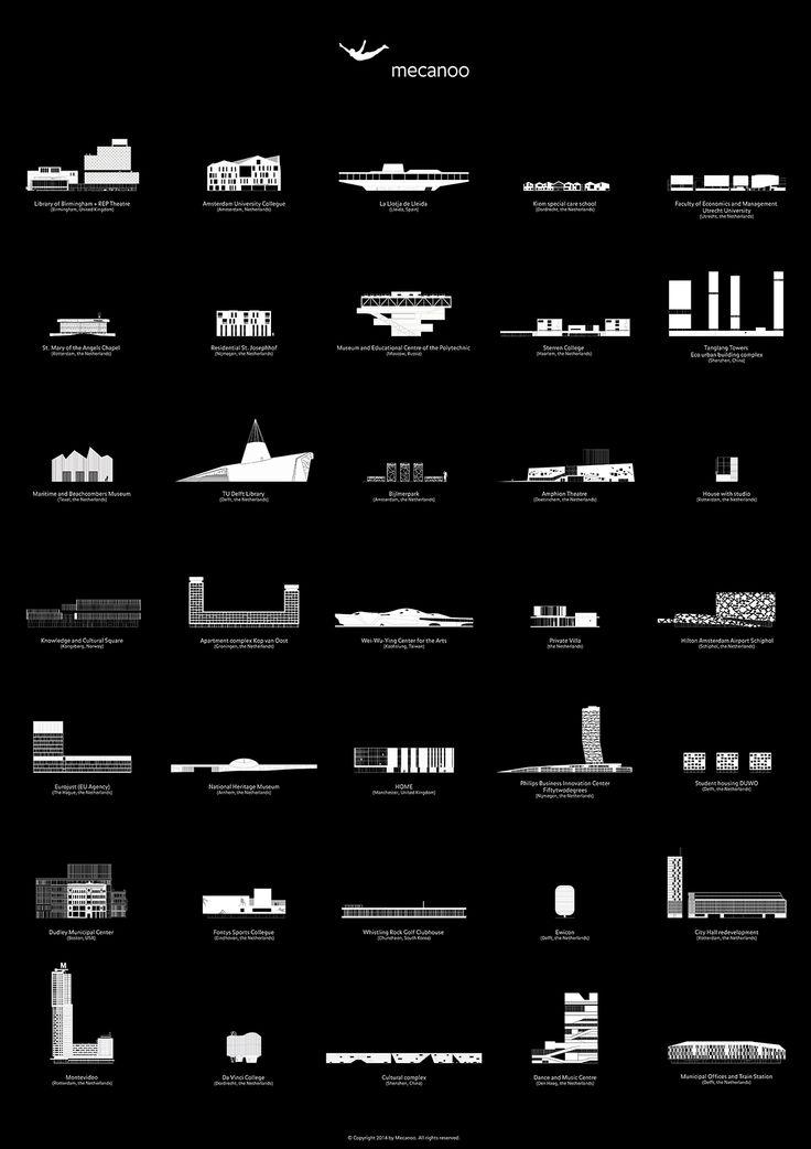 Mecanoo Project Icons - Black