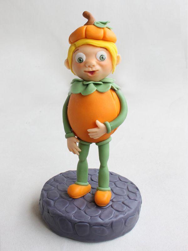 Pumpkin Boy Cake Topper Step-by-Step Tutorial