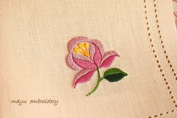 Hungary Embroidery : Multi-colour Pink Rose - Mayu Embroidery