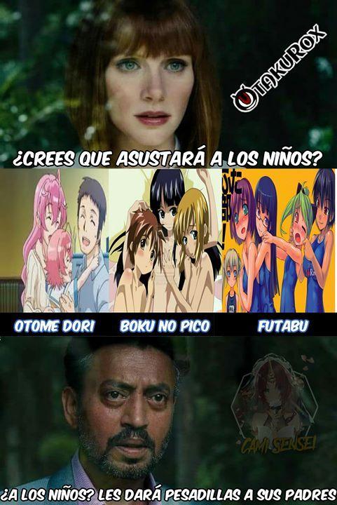 A mí me dieron pesadillas #Cami_Sensei . anime meme en español
