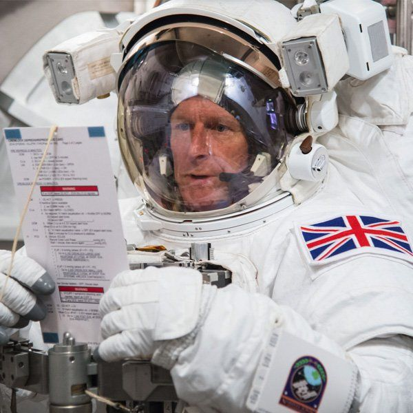 Tim Peake - inspiring as he did not qualify until later on in life and look how far hes got! Never give up on dreams