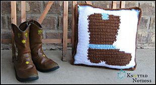 Cute Cowboy/girl graph set! Crochet pattern #KnottedNotions