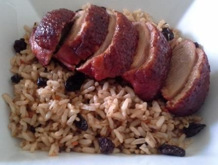 Duck with Moroccan Rice. I love duck, and it is beautiful with this rice, and the YIAH Pomegranate, Tamarind & Grapefruit Balsamic Vinegar.  The rice includes YIAH Meze Dip Mix, YIAH Marrakesh Moroccan Spice blend and sultanas. Visit my Facebook page for the recipe - www.facebook.com/ChristinePryorYIAH
