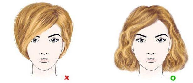 Треугольным считается лицо, у которого верхняя часть значительно