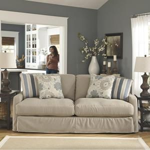 Addison Sofa Ashley Furniture Small Room Sleeper In Khaki Color Combo For Living Pinterest And Cottage Style