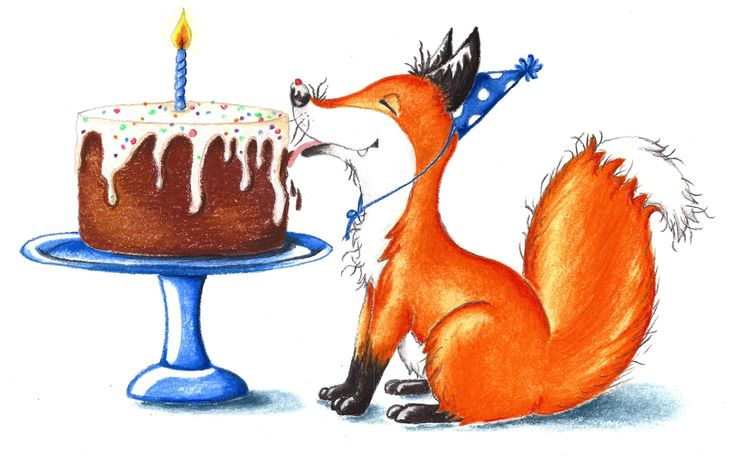 """Foxes Love Cake""One of a series of fox prints. Pastel on Art Paper. Available as an original, prints or greeting cards."