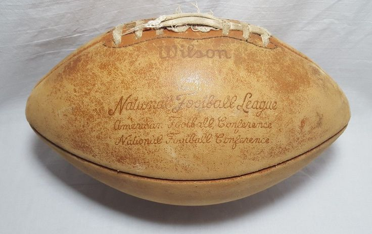 Vintage Wilson NFL Official Leather Football Pete Rozelle Green Bay Packers