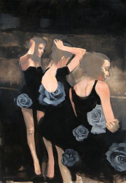 "Michael Carson, ""Female Perspective"",36"" x 24"", Oil on Panel Bonner David Galleries"