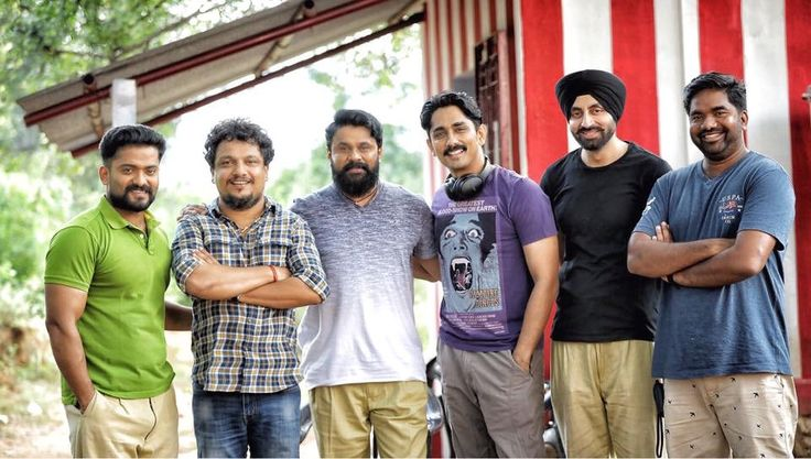 Moments from the Sets of Malayalam Film Kammmara Sambhavam with the Director and Star Actors of south #Dileep #Sid #Simar #Mollywood #Malayalam #Sikhactor #Film