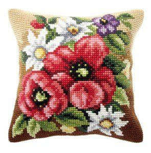 Floral Posy Cushion Front Chunky Cross Stitch Kit