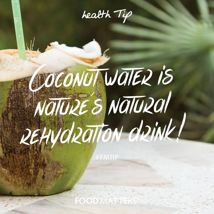 Perfect post-workout, or for rehydrating anytime of day! It's an isotonic beverage providing the electrolytes, calcium, magnesium, phosphorus, sodium and potassium. Pure coconut water has no artificial additives or sweeteners and is low in naturally occurring sugars. It also contains a variety of vitamins and minerals, including zinc, selenium, iodine, sulfur, manganese, boron, molybdenum, ascorbic acid and B-group vitamins! www.foodmatters.tv
