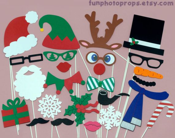 Christmas Photobooth Prop Set 25 piece set by FunPhotoProps, $35.95