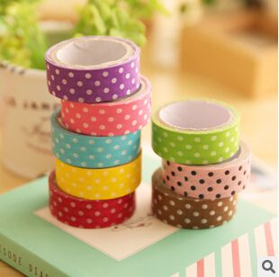 Find More Office Adhesive Tape Information about JD406  Sweet Candy Color Polka Dots Washi Tape Decorative Adhesive Tape Masking Tape DIY Scrapbooking Tools,High Quality tape gum,China tape polyethylene Suppliers, Cheap tape printer from house of novelty Store on Aliexpress.com