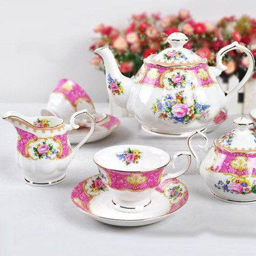 4 large english coffee bay11 set d'Angleterre fashion teapot dish bone china cup ceramic US $195.28