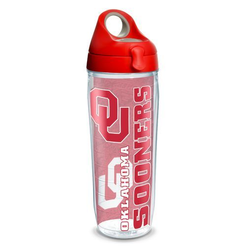 Tervis University of Oklahoma College Pride 24 oz. Water Bottle (Red Medium, Size 24 Oz) - NCAA Licensed Product, NCAA Novelty at Academy Sports