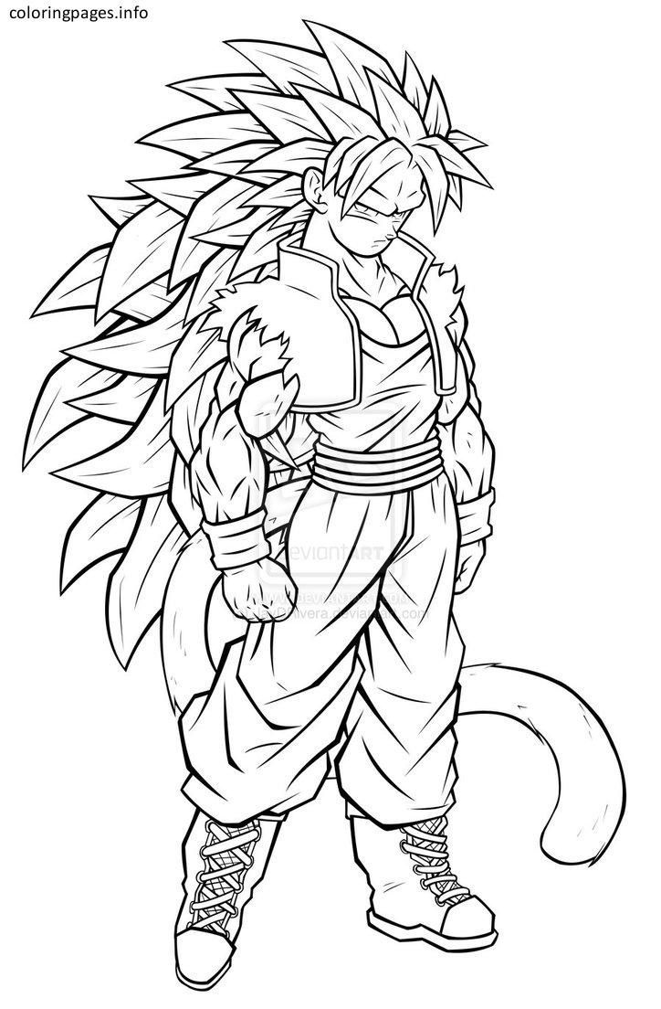 Dragon Ball Z Coloring Pages Goku Super Saiyan 5 Super