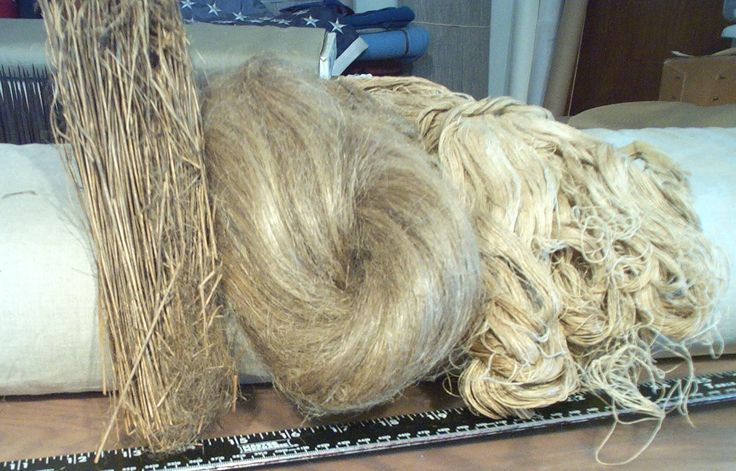 Flax fiber, mixed with other bast fibers is used to make cloth.