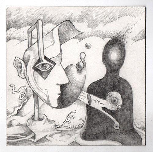 Dream Shadow Original graphite illustration by IansDNA on Etsy