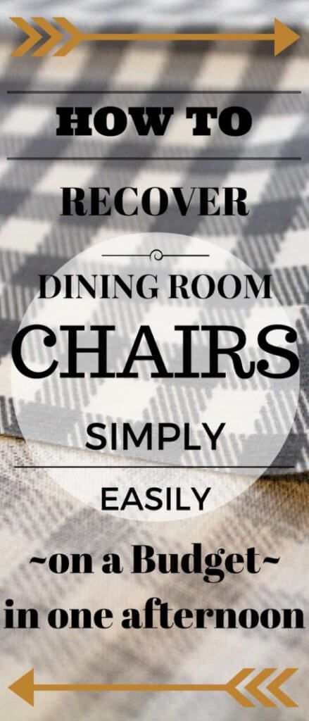 How to Recover Dining Room Chair Seats - 1915 House